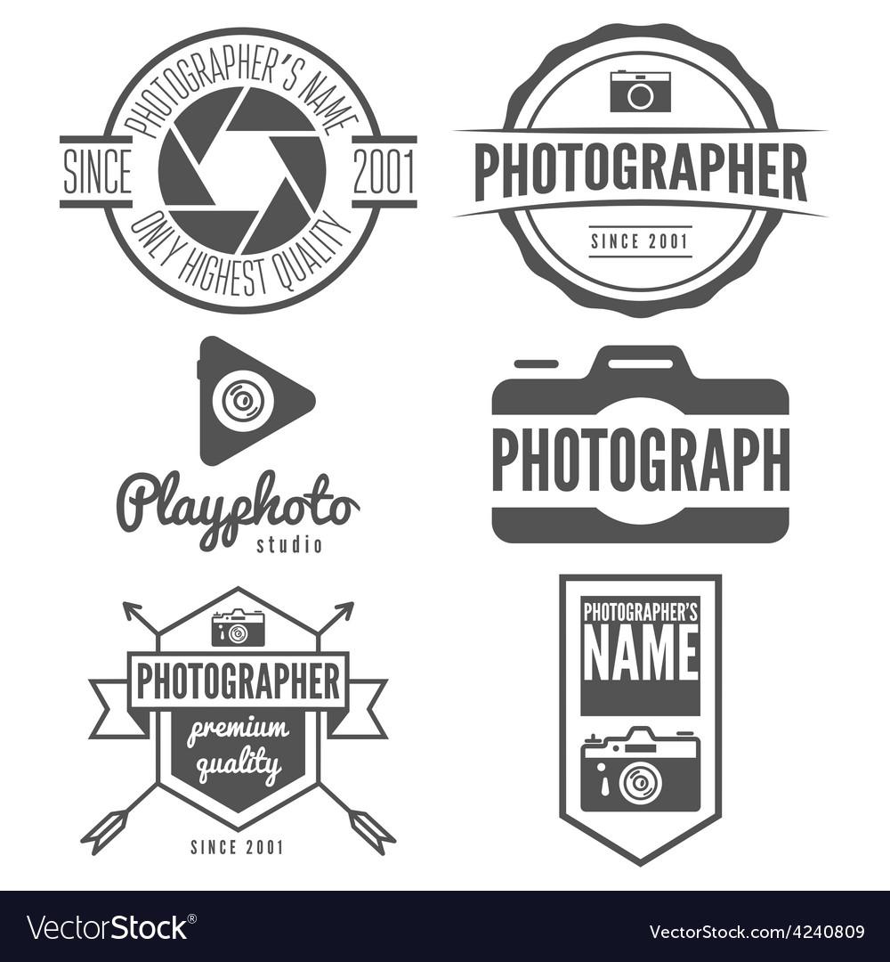 Set of logo emblem print sticker label or vector