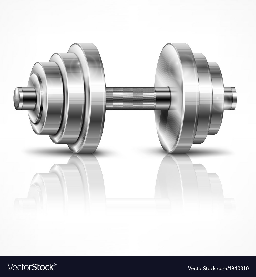 Metallic dumbbell vector