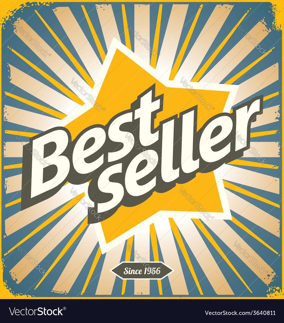 Bestseller retro tin sign design vector