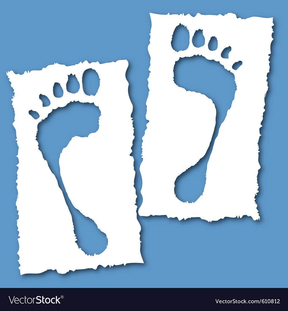 Paper foot hole vector