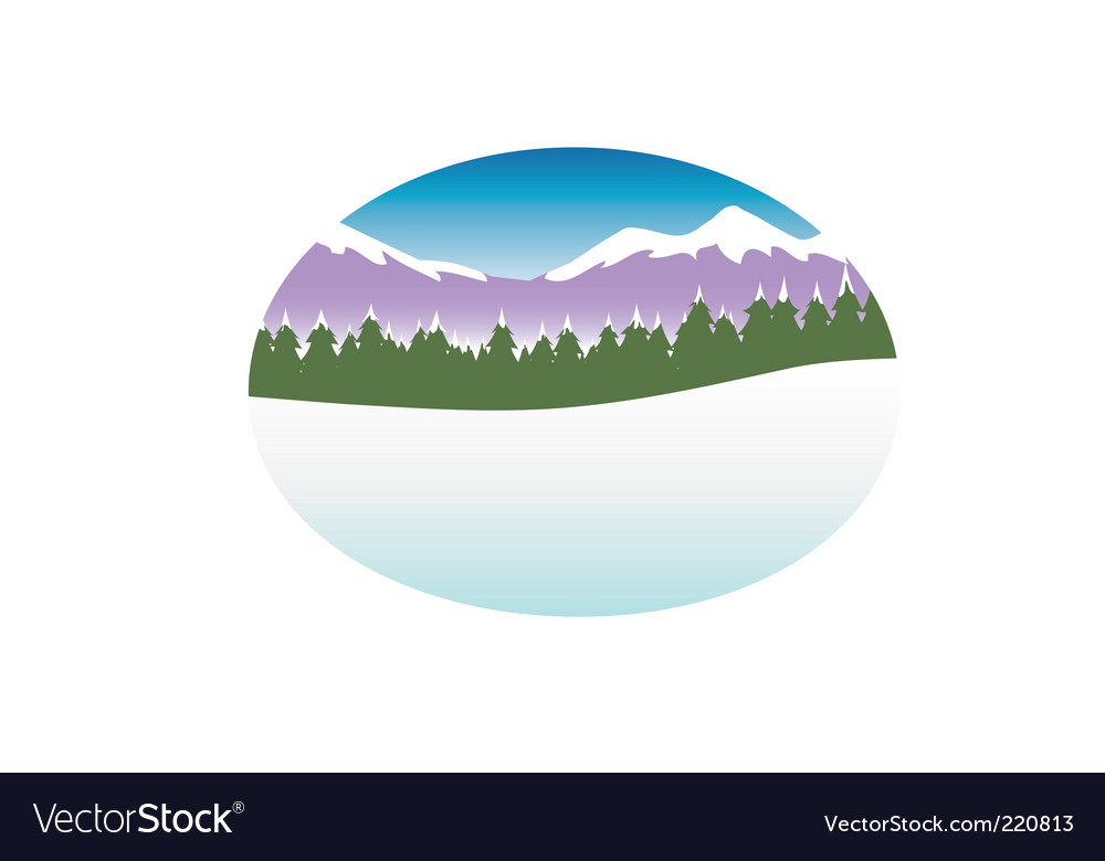 Snow nature background vector