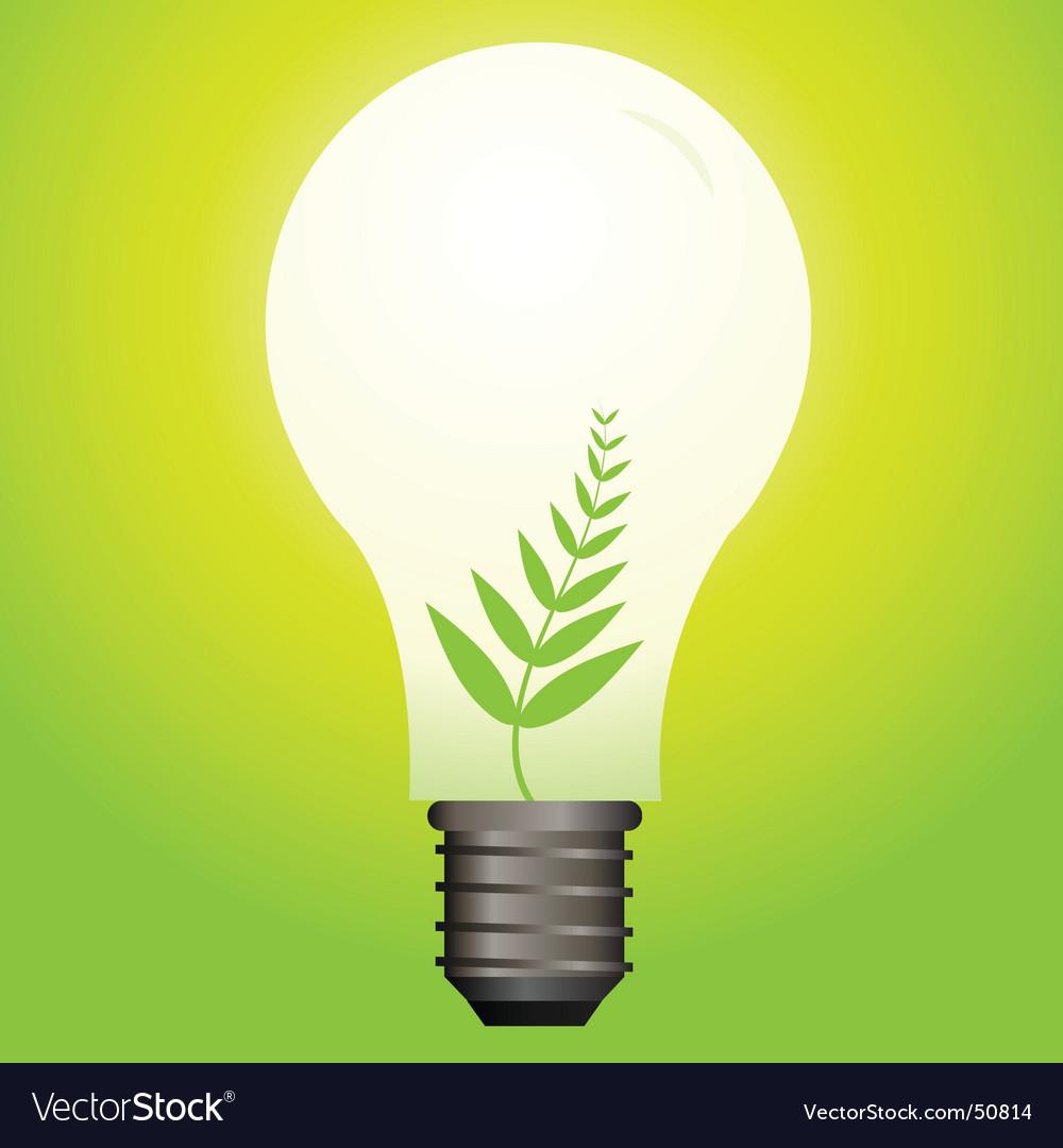Nature bulb vector