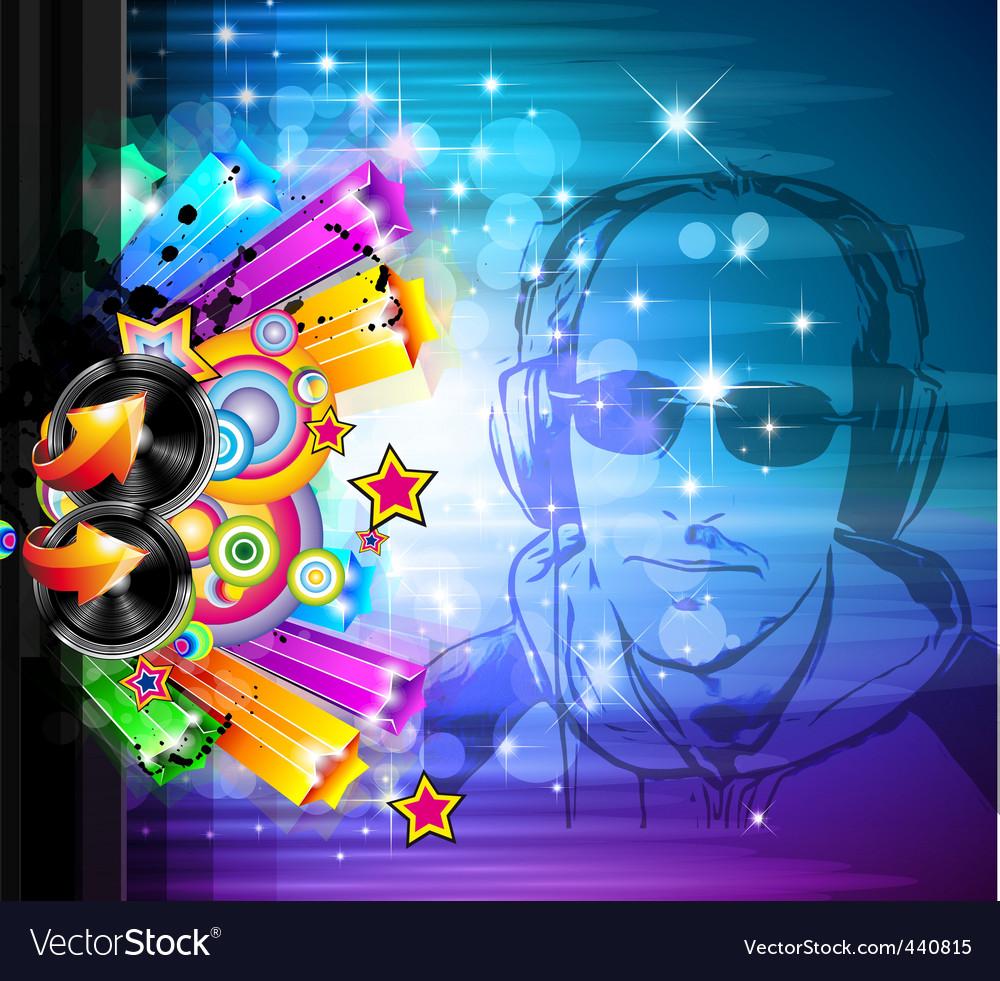 Disco music background vector