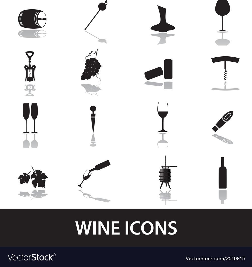 Wine icons eps10 vector