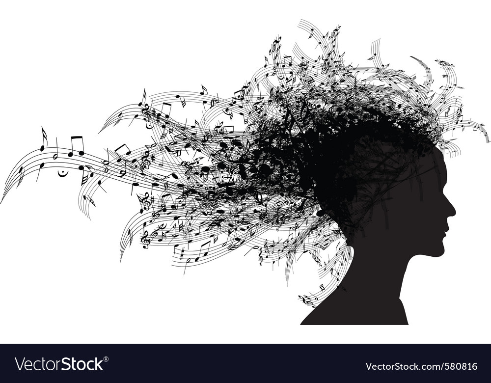 Musical woman vector