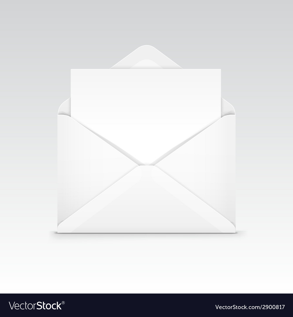 White blank envelope isolated vector