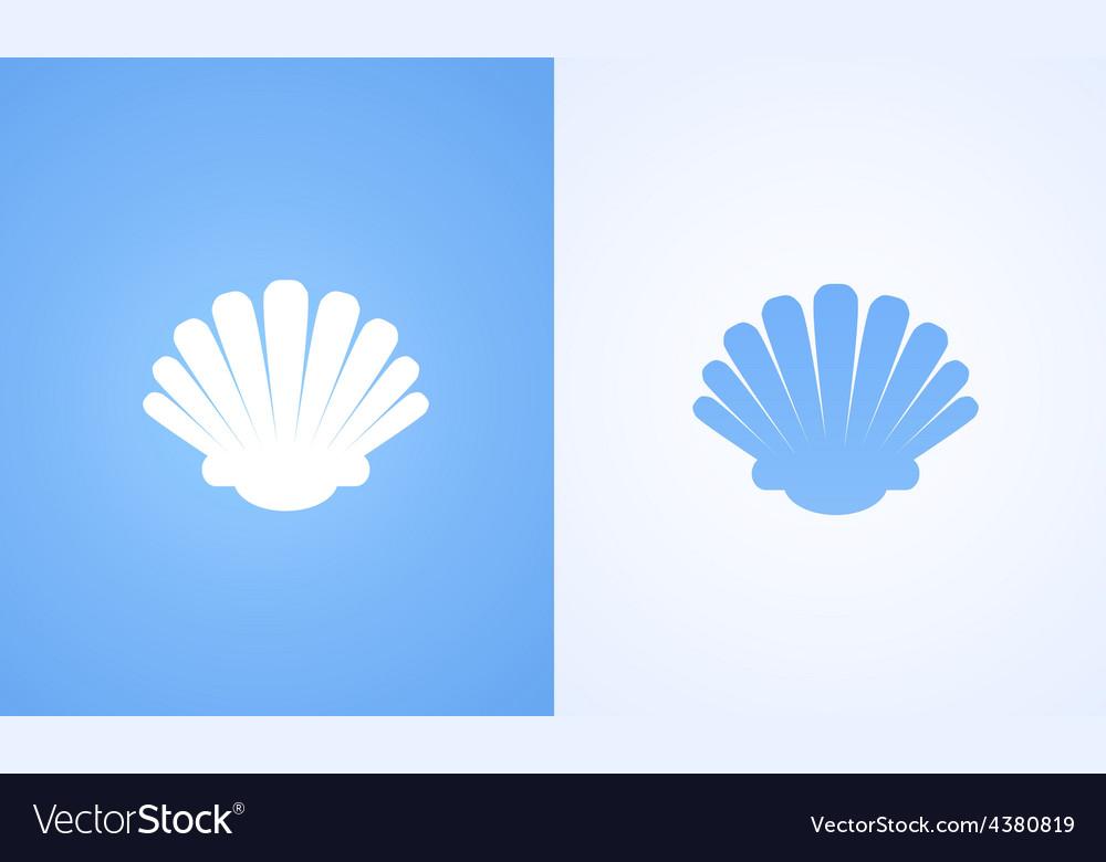 Icon of seashell vector