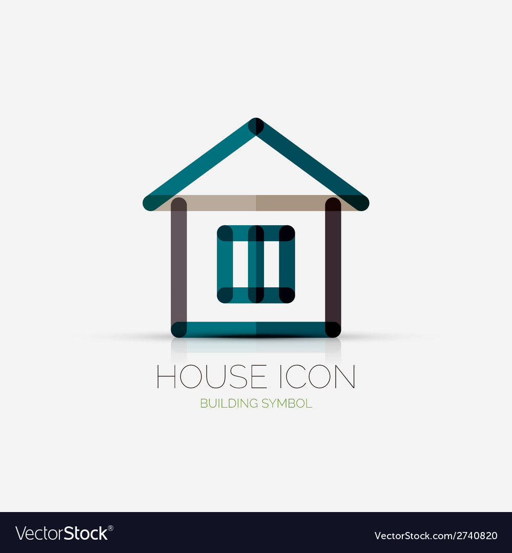 House icon company logo business concept vector
