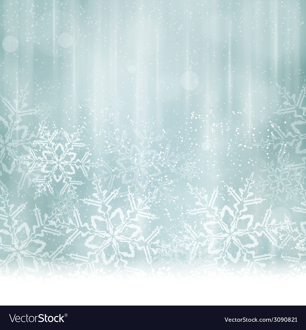 Silver blue snowflake winter background vector