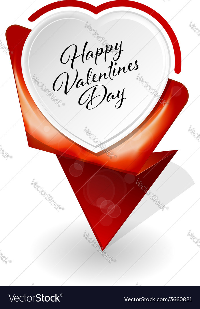 Valentines day infographic banner vector