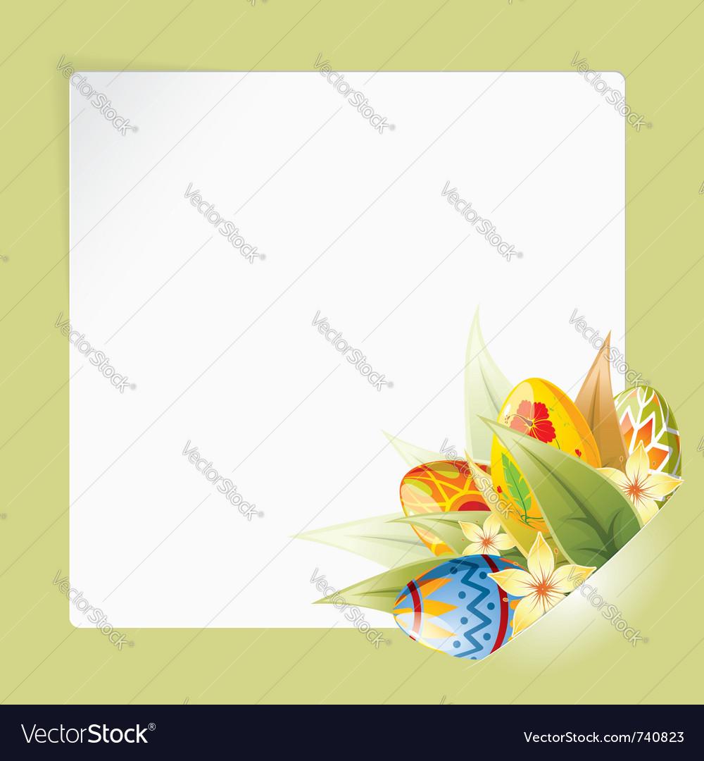 Easter frame vector
