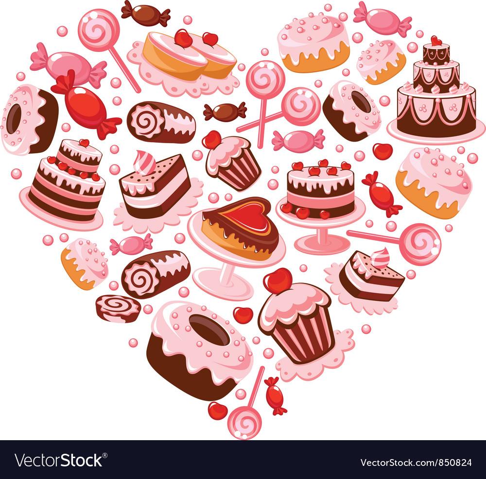 Candy heart vector