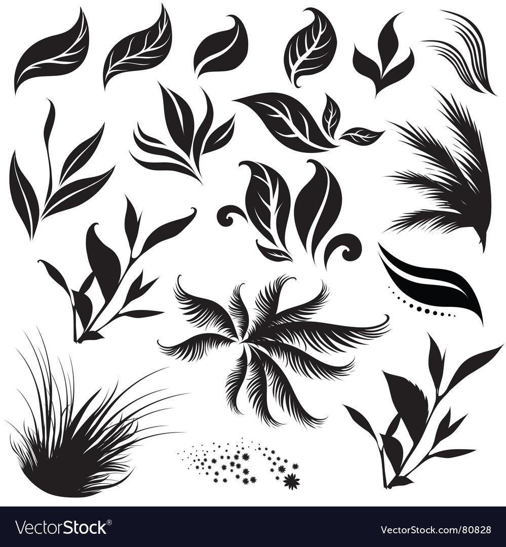Plant design elemets vector