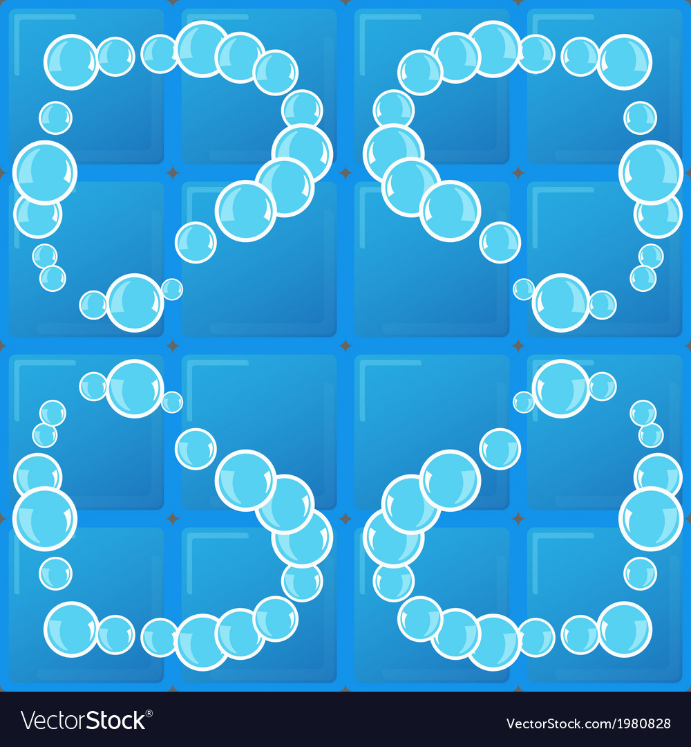 Tile and soap bubbles vector
