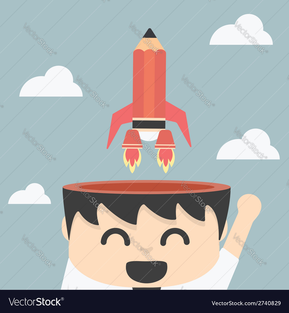 Businessman quick thinking vector