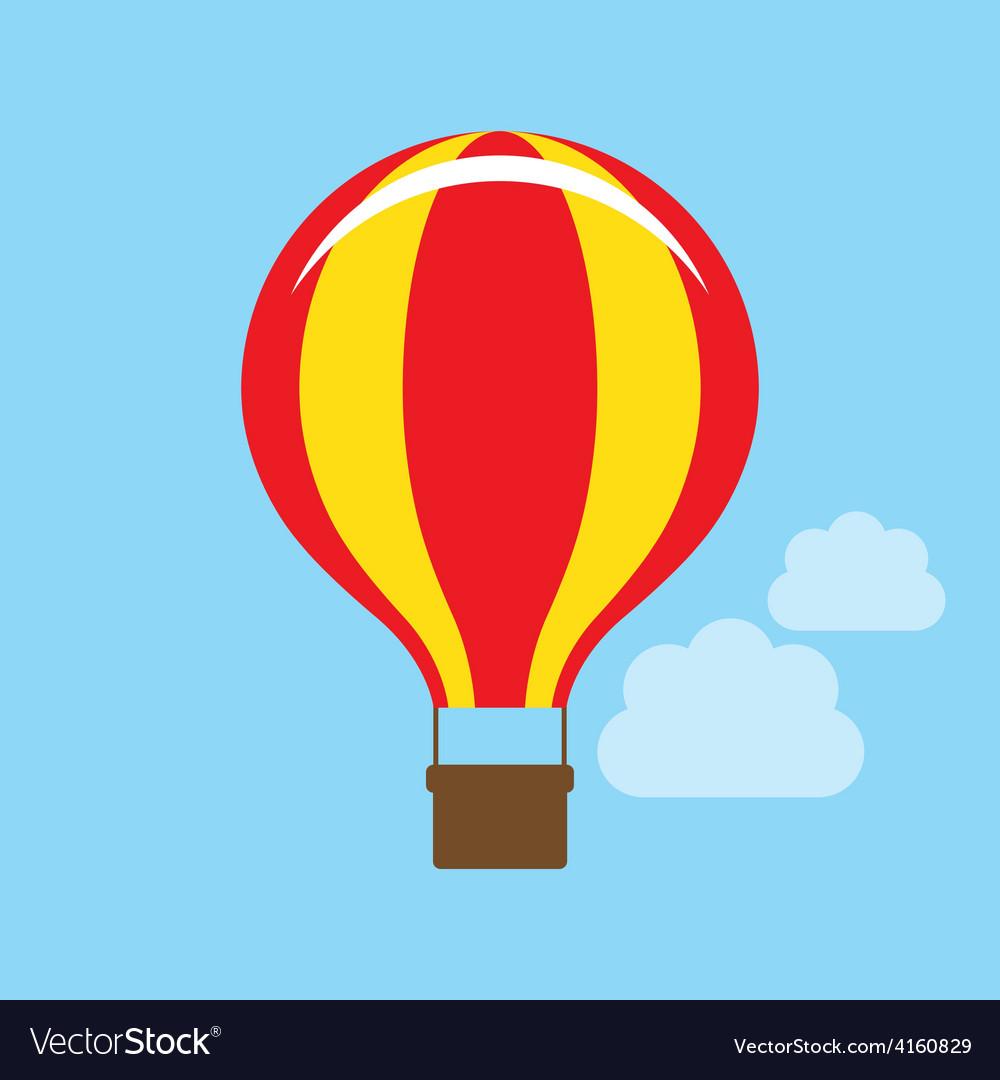 Hot air balloon icon vector