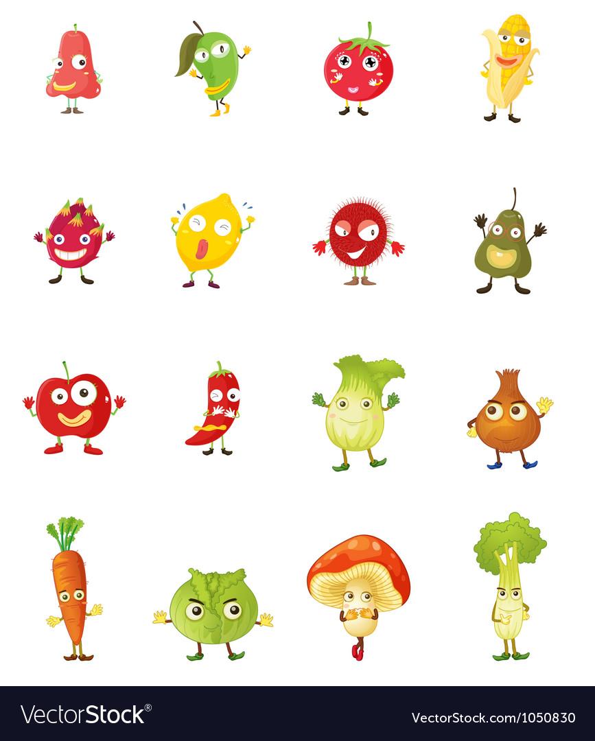 Fruit faces vector