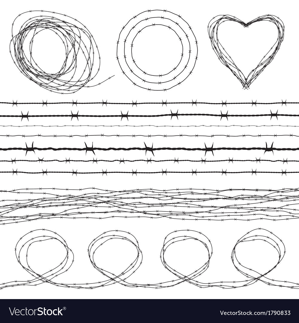 Barbed wires vector