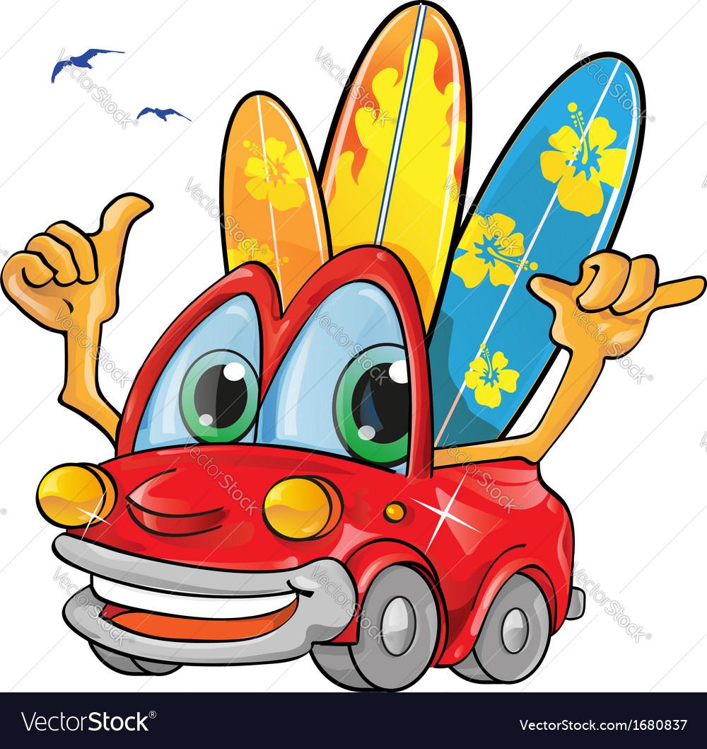 Travel car cartoon vector