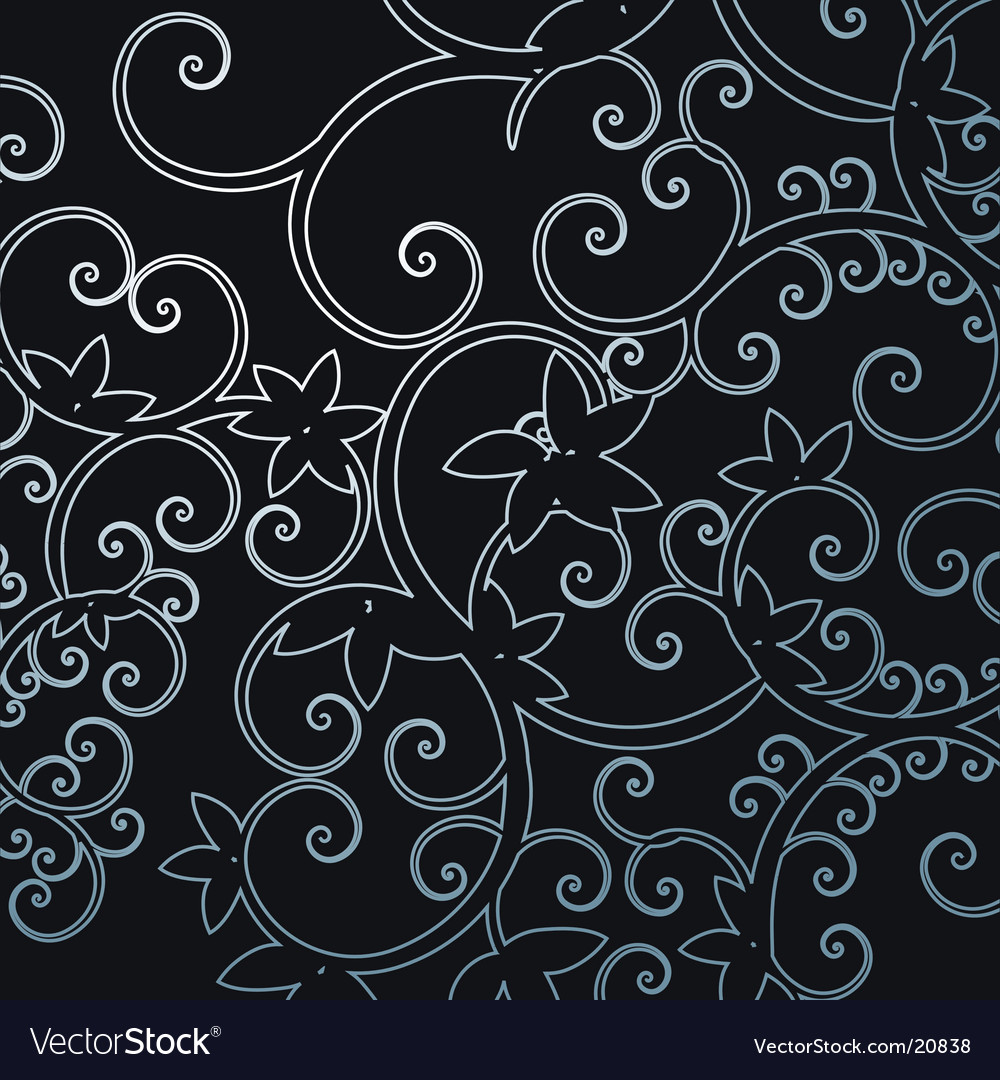 Background leaf pattern swirl illustra vector