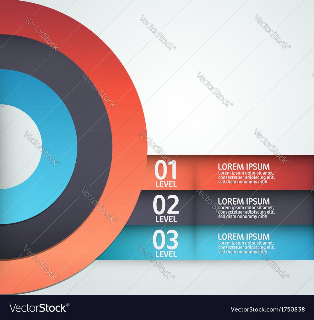 Modern layout design vector