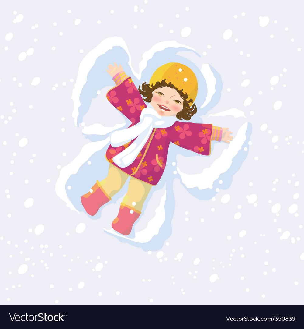 Snow angel vector
