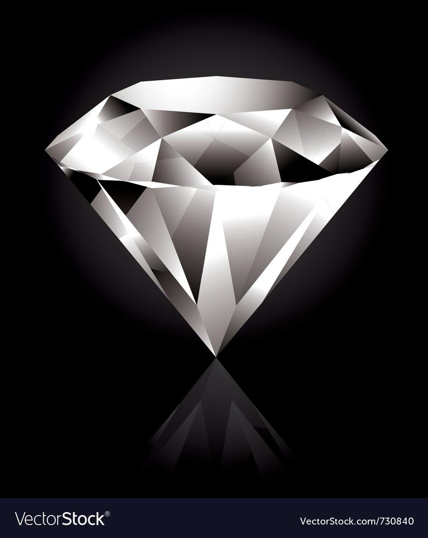 Shiny diamond vector