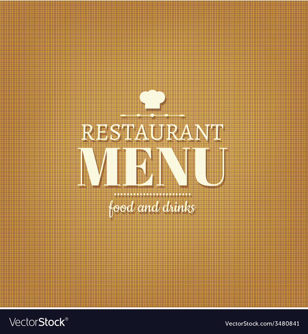 Restaurant menu card vector