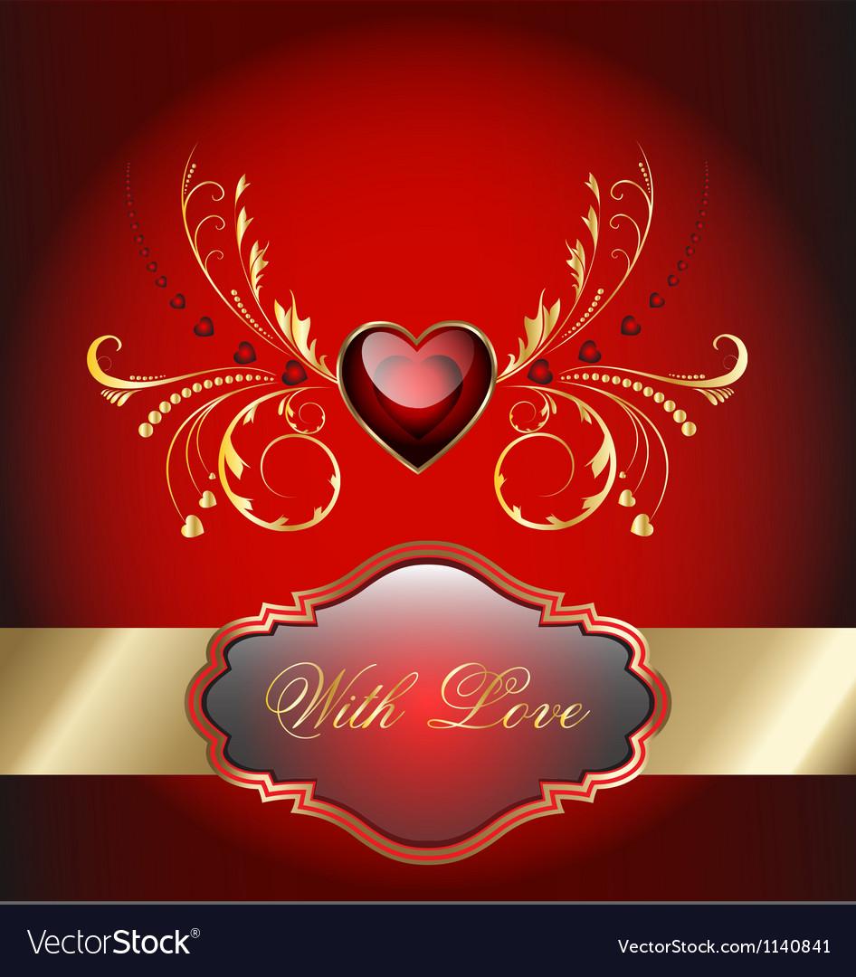 Valentine celebration card vector