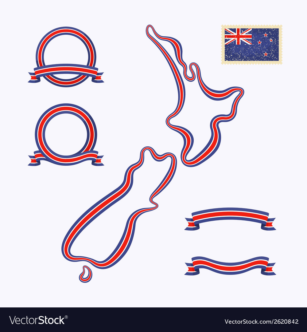 Colors of new zealand vector