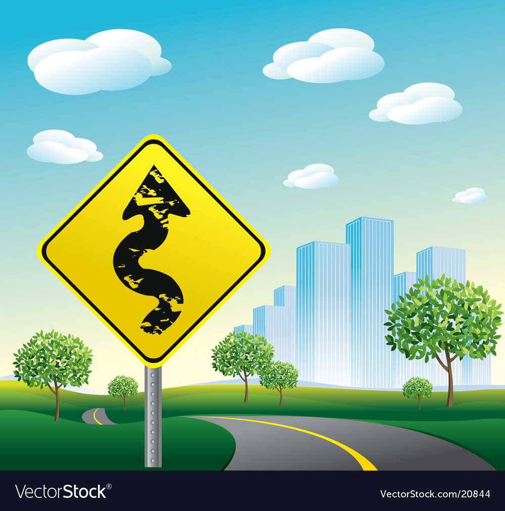 Highway road to cityscape illustration vector