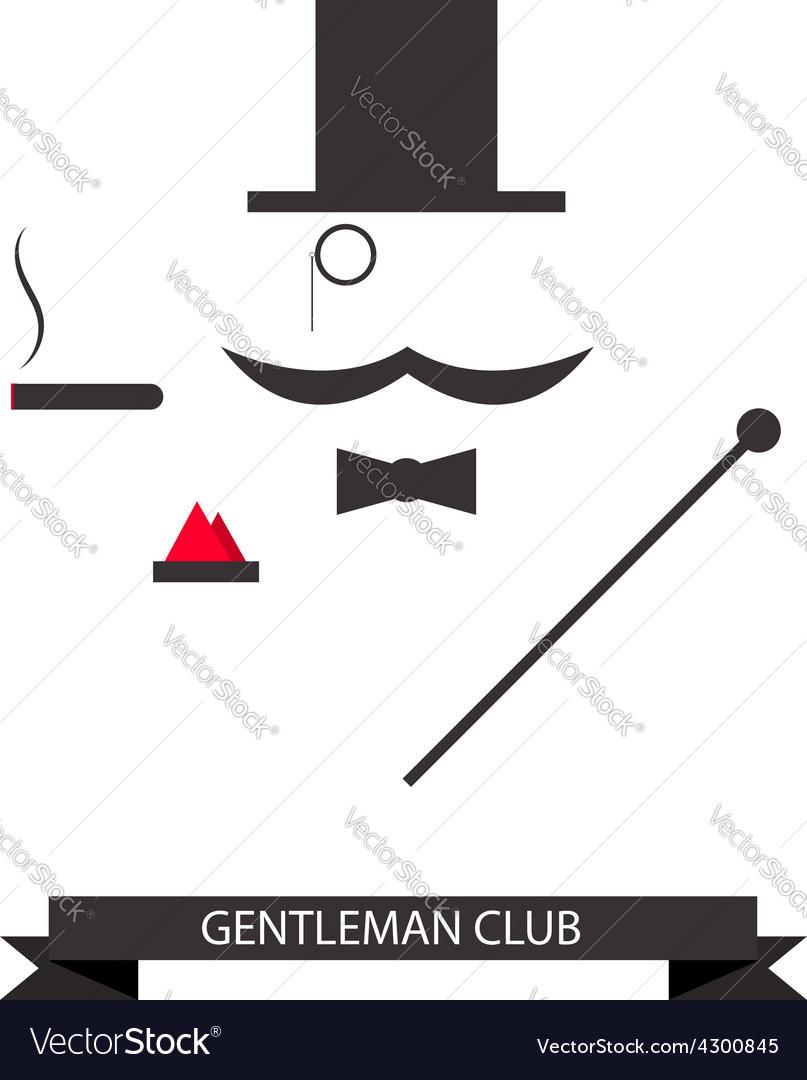 Gentleman abstract logo vector