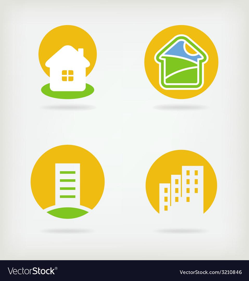 4 of house logo vector