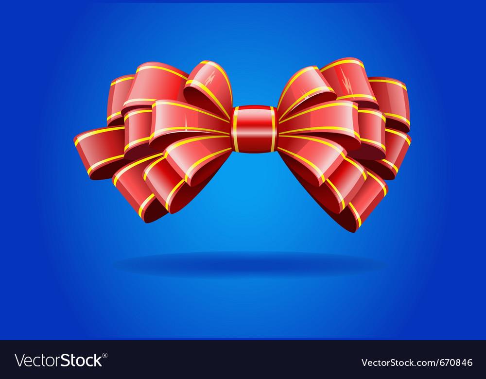 Shiny red ribbon vector