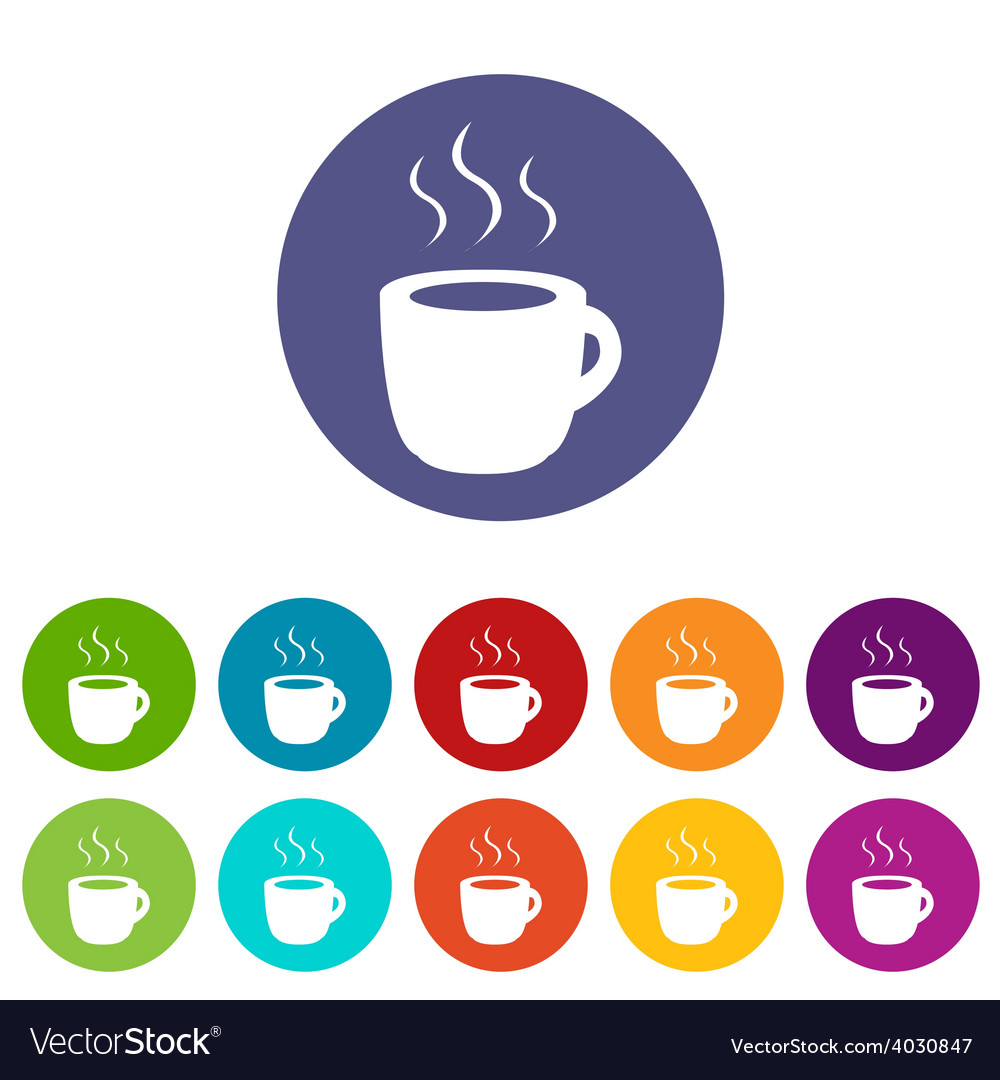 Coffee flat icon vector