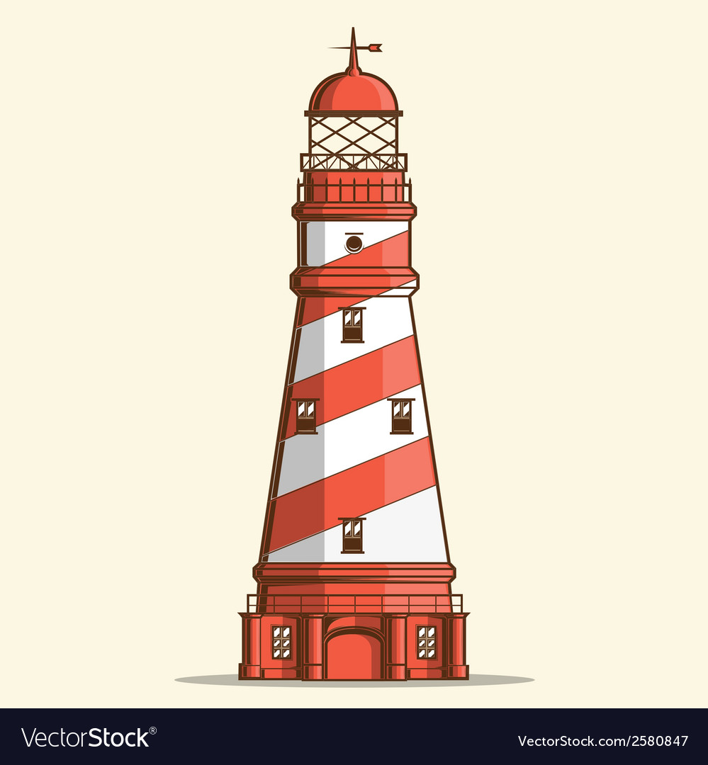 Retro lighthouse vector