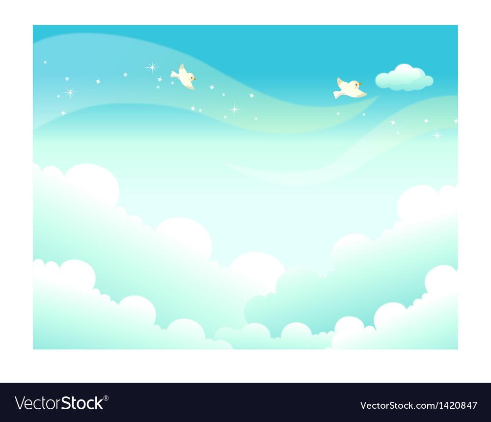 Sky landscape background vector