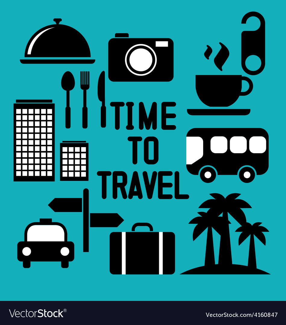 Traveling and transport icons for web and mobile a vector