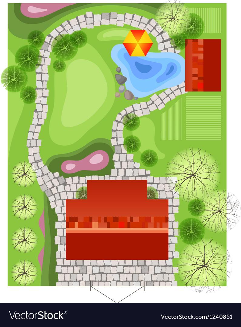Landscape plan vector