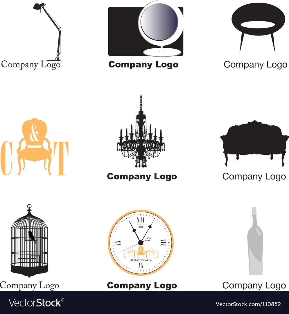 Furniture logos vector