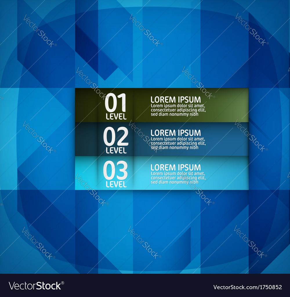 Modern blue layout design vector