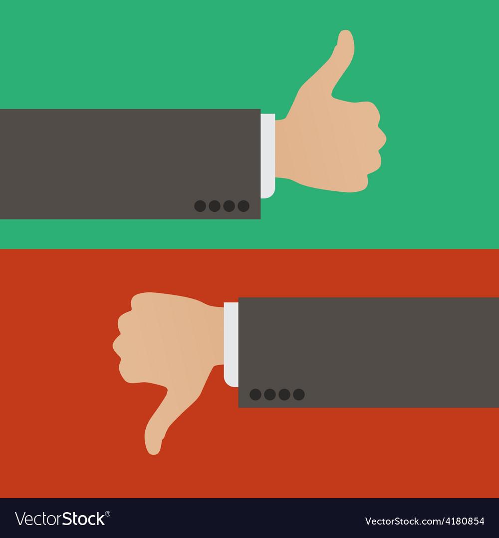 Like and dislike vector