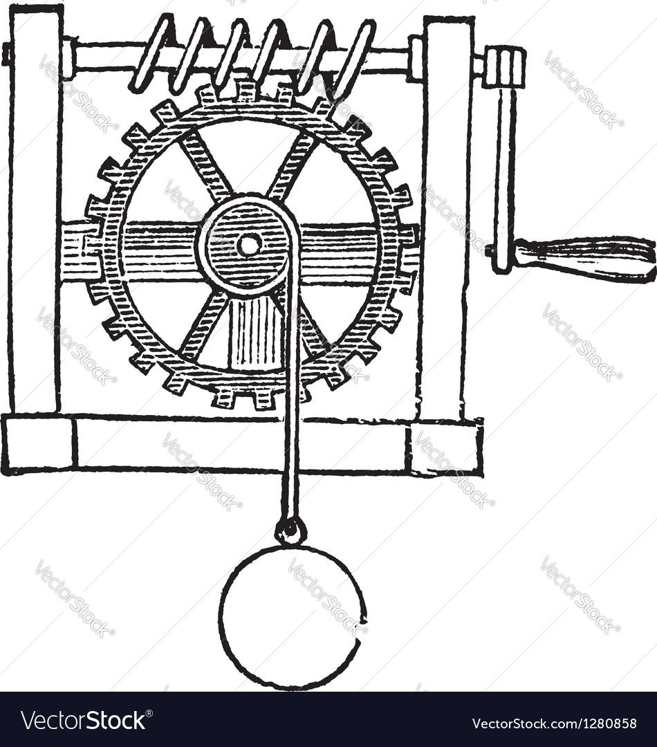 Gears vintage engraved vector