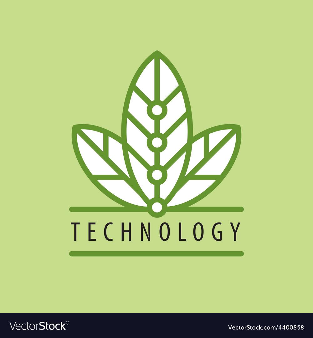 Logo in chip technology petal vector