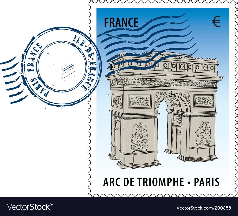 Postmark from france vector