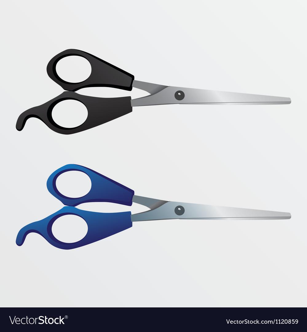 Two scissors vector