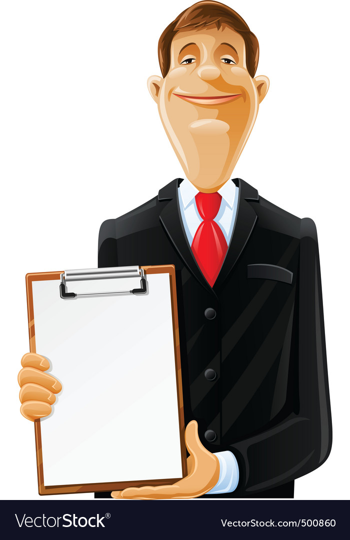 Man with clipboard vector