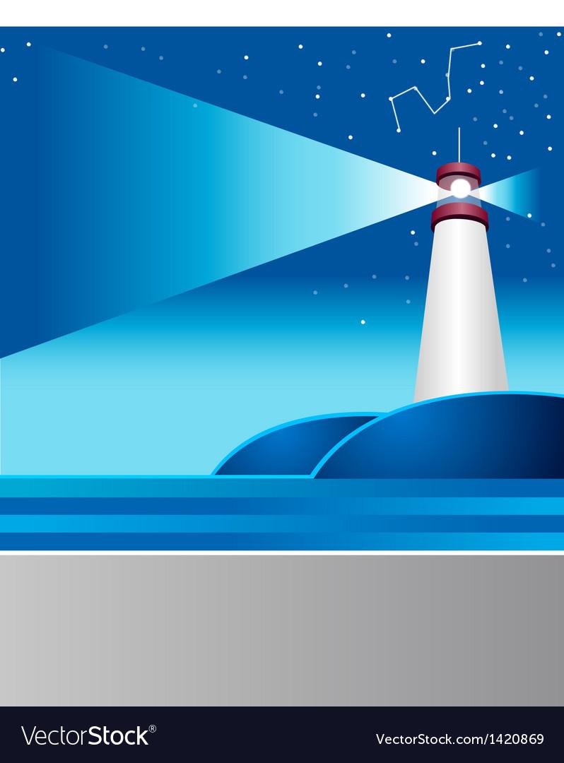 Lighthouse astrology sign vector