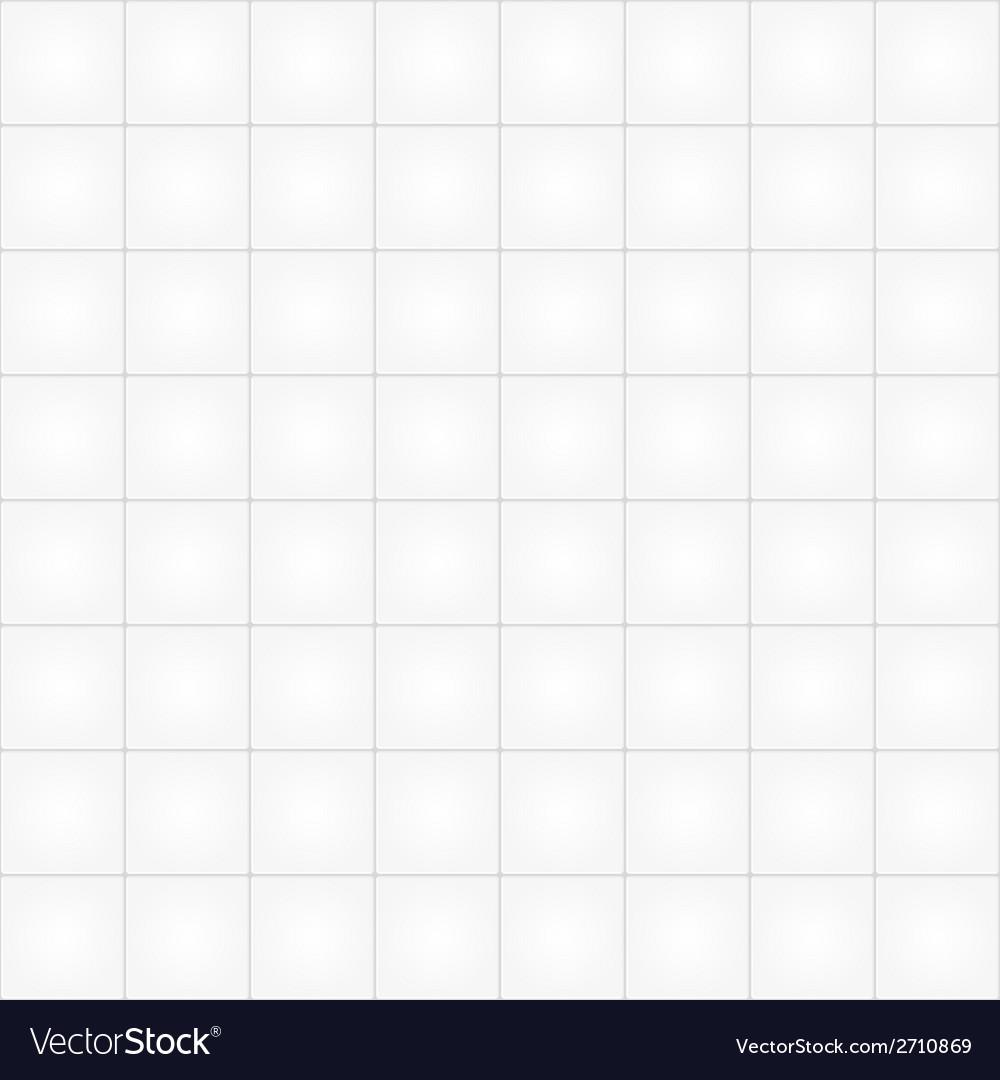 White tile seamless pattern background vector
