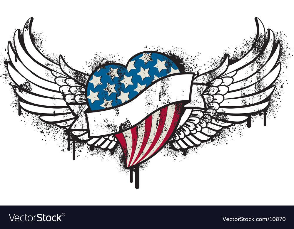 American flying graffiti vector
